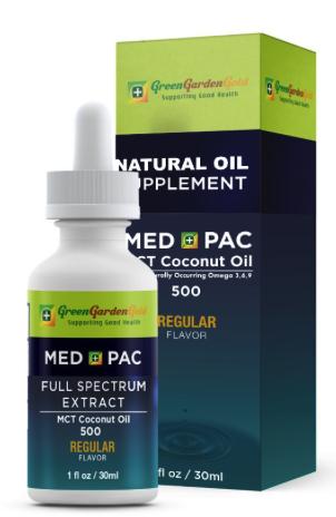 綠金園MCT有機椰子油-MEDPAC 梅德派克 REGULAR 原味 500 (30ML)
