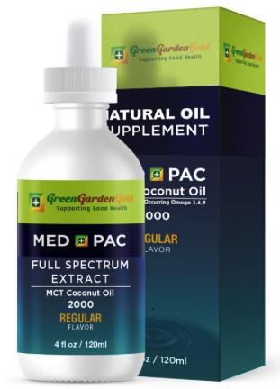 綠金園MCT有機椰子油-MEDPAC 梅德派克 REGULAR 原味 2000 (120ML)